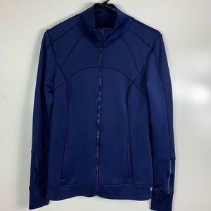 APANA yoga jacket womens medium blue zip up